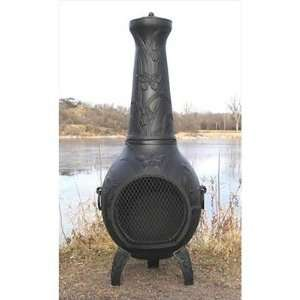 The Blue Rooster ALCH017x / COVER Butterfly Style Chiminea