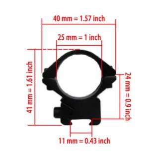 BRAND NEW TACTICAL RIFLE SCOPE NARROW RING MOUNT for 11mm WEAVER RAIL