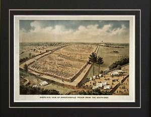 Andersonville Confederate Union Civil War Prison Print