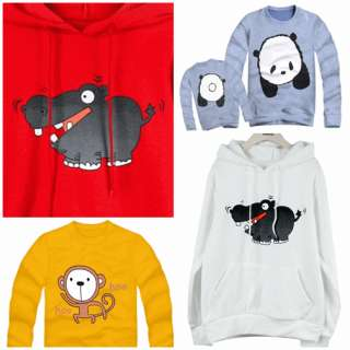 Sweater Hoodie ~Couple LOVE Print Character Monkey PANDA Korean