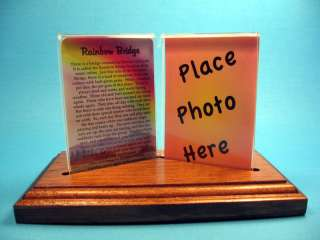 Bridge Double Acrylic Frame / Wood Base Gift Set [sku# 977]