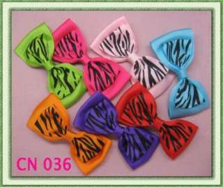 7PCS GIRLS BABY TODDLE HAIR BOW CLIP LARGE LEOPARD ALLIGATOR CLIP