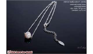 Swarovski Crystal Pendant charm W Gold Chain jewelry Necklace pemier
