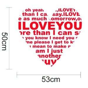 Home Art Decor Vinyl Wallpaper Sticker Heart Of Love