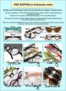 items in Retro Focus Eyewear Reading glasses Hornrim Geek Nerd Cateye