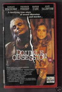 DOUBLE OBSESSION  MARGEAUX HEMMINGWAY MARYAM DABO  VHS