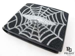 Genuine Stingray Skin Leather Mens Wallet Web Design