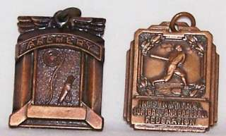 VTG METAL HIGH SCHOOL SPORTS AWARD MEDALS NECKLACE