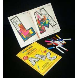 Colorn Seek Alphabet Hidden Pictures Coloring Book