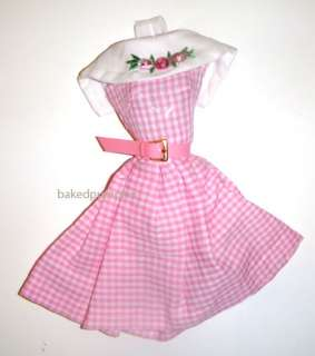 Barbie Fashion Pink/White Dress For Barbie Dolls Repro