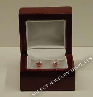 rosewood veneer white leather jewelry earring gift box item we3 rw