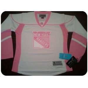 New York Rangers Pink NHL Hockey Jersey   Womens Size XL   Brand New