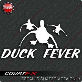 Duck Fever Sticker Waterfowl Shotgun Hunting Decal