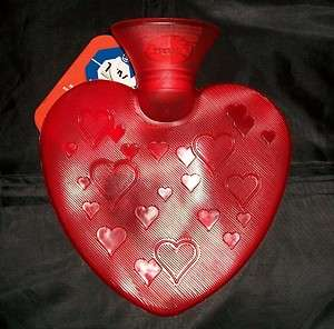 Red Love Heart Hot Water Bottle Fashy Thermoplastic