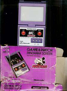 1984 MICKEY MOUSE PANORAMA NINTENDO GAME & WATCH + BOX