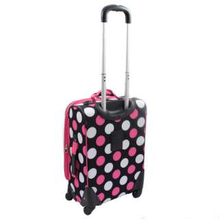 Rockland 20 Carry On Upright Spinner Multi Pink Dot $130