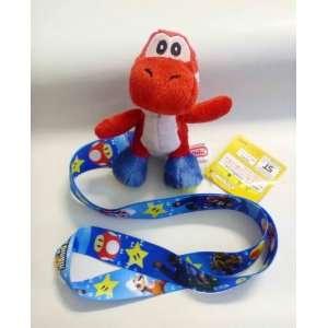 Mario Bros Yoshi Lanyard   Red Yoshi   Blue Lanyard