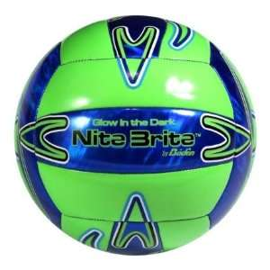 Baden Play In Dark Nite Brite Volleyballs GLOSSY GLOW LIME GREEN/ROYAL