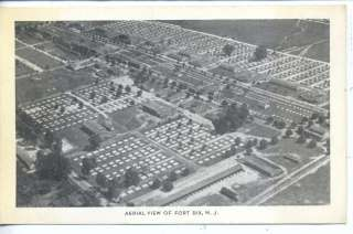 FORT DIX NEW JERSEY AERIAL VIEW U.S. ARMY BASE VINTAGE POSTCARD N.J