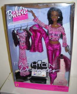 1579 Mattel Fashion Designer African American Barbie Doll