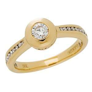 Quarter Carat Centre Diamond Ring in 18kt Yellow Gold