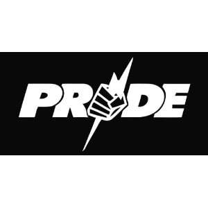 UFC Pride Vinyl Die Cut Decal Sticker 6.50 White