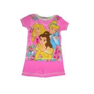 Princess Cinderella Belle Sleeping Beauty Girls Shorts Pajamas 4