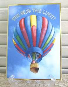 Wilson Graduation Greeting Card Hot Air Balloon 095372612685