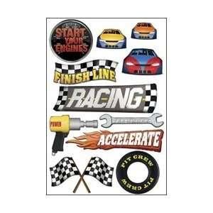 Karen Foster Driving/Racing Cardstock Stickers 5.5X9 Racing KF10564