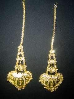 Bollywood India Jewelry Jodha Akbar Gold Bridal Necklace set 9 Pcs