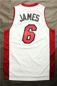 LEBRON JAMES #6 MIAMI HEAT NBA REV 30 JERSEY WHITE