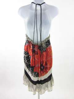 NWT VIVIENNE TAM Printed Silk Halter Dress Sz P $395