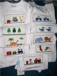 NWT Vive La Fete Boys Smocked LS Tee shirt 3T DINOSAURS