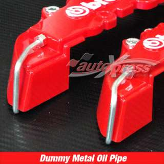 3D LOGO 4 Pieces with GLUE RED BREMBO Racing Brake Caliper COVERS