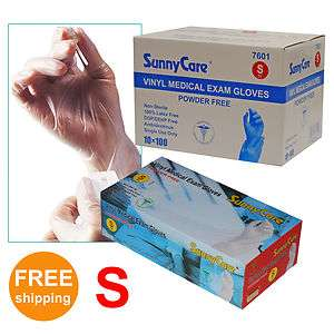 Disposable Powder Free Vinyl Medical Exam (Nitrile Free) Gloves Small
