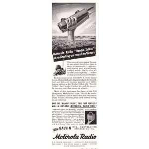 Print Ad: 1944 Motorola Radio: Handie Talkie: Motorola: Books