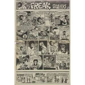 Fabulous Furry Freak Brothers Original Comic Ad 1970:  Home