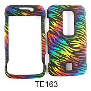 Huawei Ascend M860 Rainbow Zebra Print on Black Hard Case