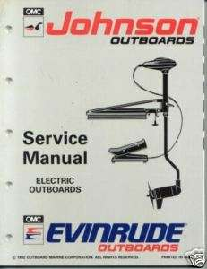 1993 Johnson Evinrude electric Outboard Service Manual