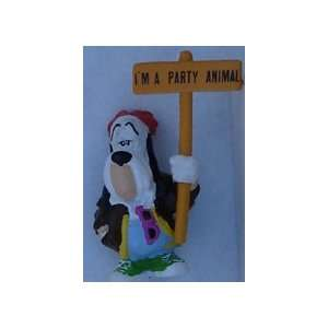 Droopy Dog PVC By Applause 1990 With Sign & Blue Pants