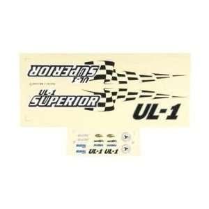 Aquacraft Decal Sheet UL 1 Superior Toys & Games