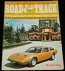 SEPTEMBER 1969 ROAD & TRACK MAGAZINE MASERATI INDY, MAVERICK, SUBURA