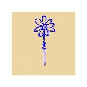Flower   Removeable Wall Decal   selected color Purple