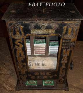 1904 One Cent Match Vending Machine  Kelley Gum Mfg