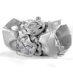 SATIN Pu leather EVENING WEDDING PROM PARTY BRIDAL CLUTCH BAG CRYSTAL