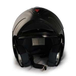 VCAN BLUETOOTH FLIP UP DUAL BLACK MOTORCYCLE HELMET *XL