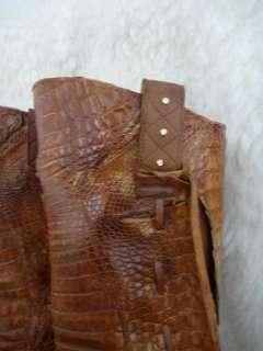 EL VAQUERO Womens Crocodile Cowboy Boots Swarovski Crystal 39 / 8.5 $