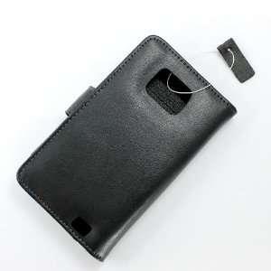 com [Aftermarket Product] Black Faux Leather Book Wallet Card Holder