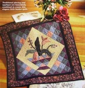 AMISH BASKET Quilt Pattern   Elegant Little Wall Hanging, Patchwork