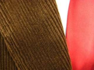 Mens Andrew Fezza 2 button brown corduroy sport coat blazer XL (C32 11